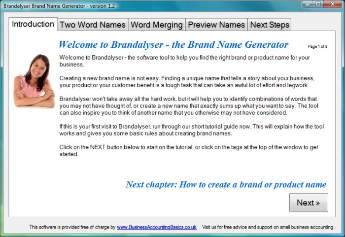brandalyser - Business Name Generator