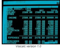 Visicalc version 1.0