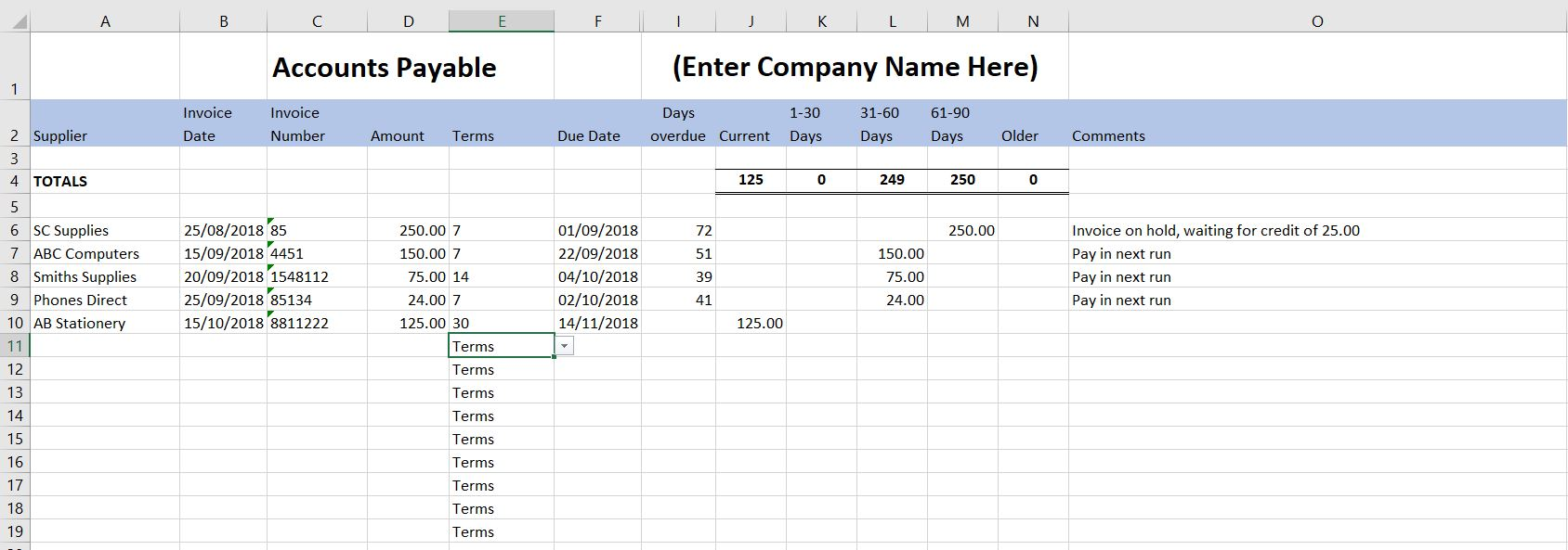 Free Excel Bookkeeping Templates 12 Accounts Spreadsheets