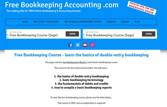 Free Bookkeeping Accounting Course