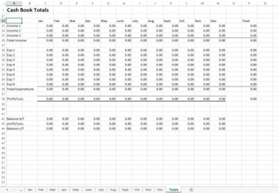 Excel Cash Book Template
