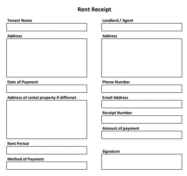 It's just a graphic of Printable Rent Receipt Template for australia