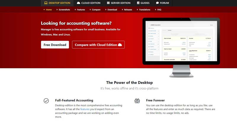 Manager Accounting Software Home